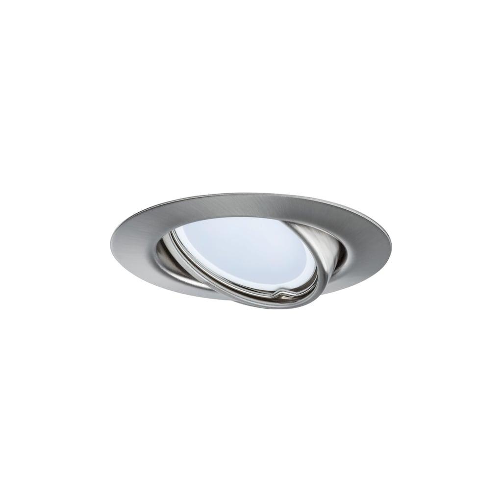 Paulmann LED Einbaustrahler »Base rund 3x5W GU10 Eisen gebürstet schwenkbar«, GU10, 3 St., Warmweiß