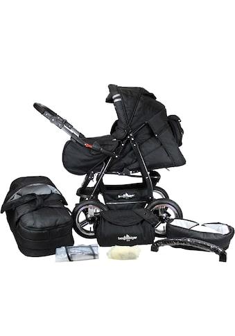 bergsteiger Kombi-Kinderwagen »Rio, black edition, 3in1«, mit Lufträdern; Made in Europe kaufen
