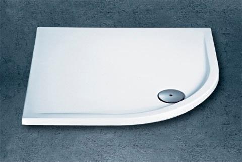 maw Duschwanne rund, BxT: 90 x cm weiß Duschwannen Duschen Bad Sanitär