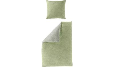 BIERBAUM Wendebettwäsche »Greens«, mit feinem Kreismuster kaufen