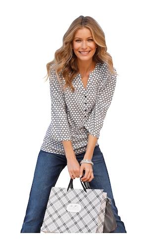 Classic Inspirationen Bluse mit außergewöhnlich schönem Druck - Dessin kaufen