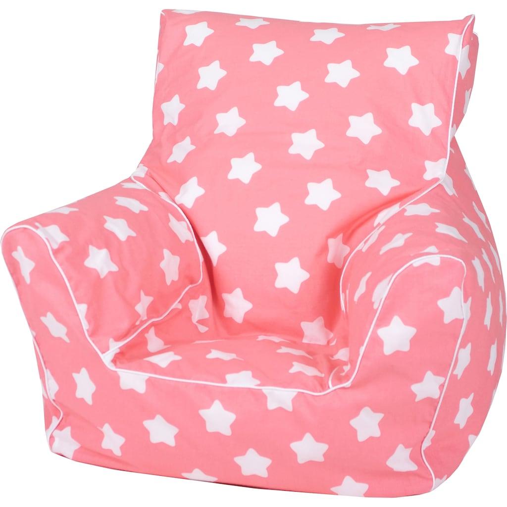 Knorrtoys® Sitzsack »Pink, white stars«, für Kinder; Made in Europe