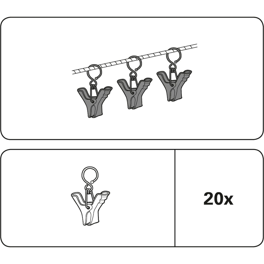 GARDINIA Seilklammern, (Packung, 20 St.), Serie Seilspanngarnituren