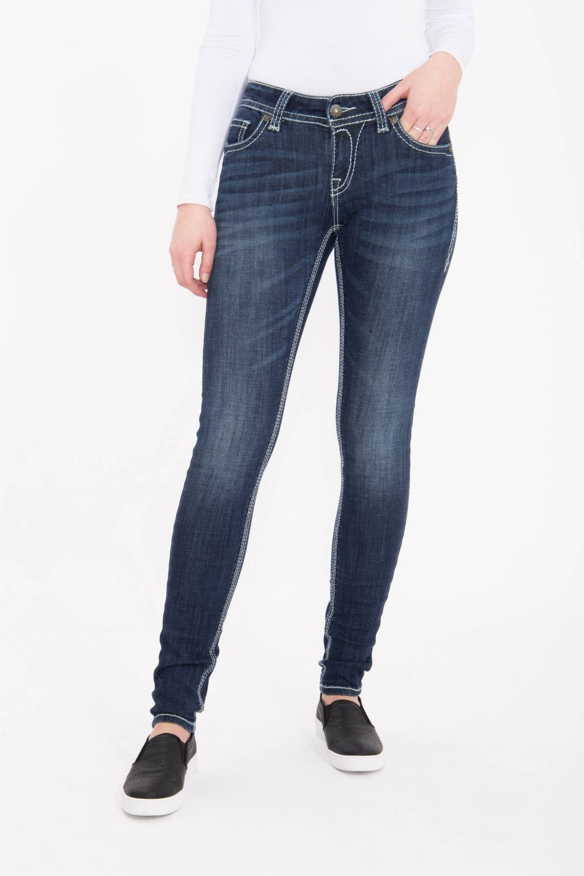 Blue Monkey Skinny-fit-Jeans Luna 3855 | 04251484627313