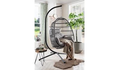Destiny Hängestuhl »Coco Relax«, Polyrattan/Stahl, inkl. Sitz- und Rückenkissen kaufen