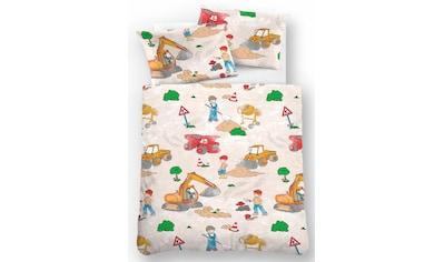 Kinderbettwäsche »Bauarbeiter«, Biberna kaufen