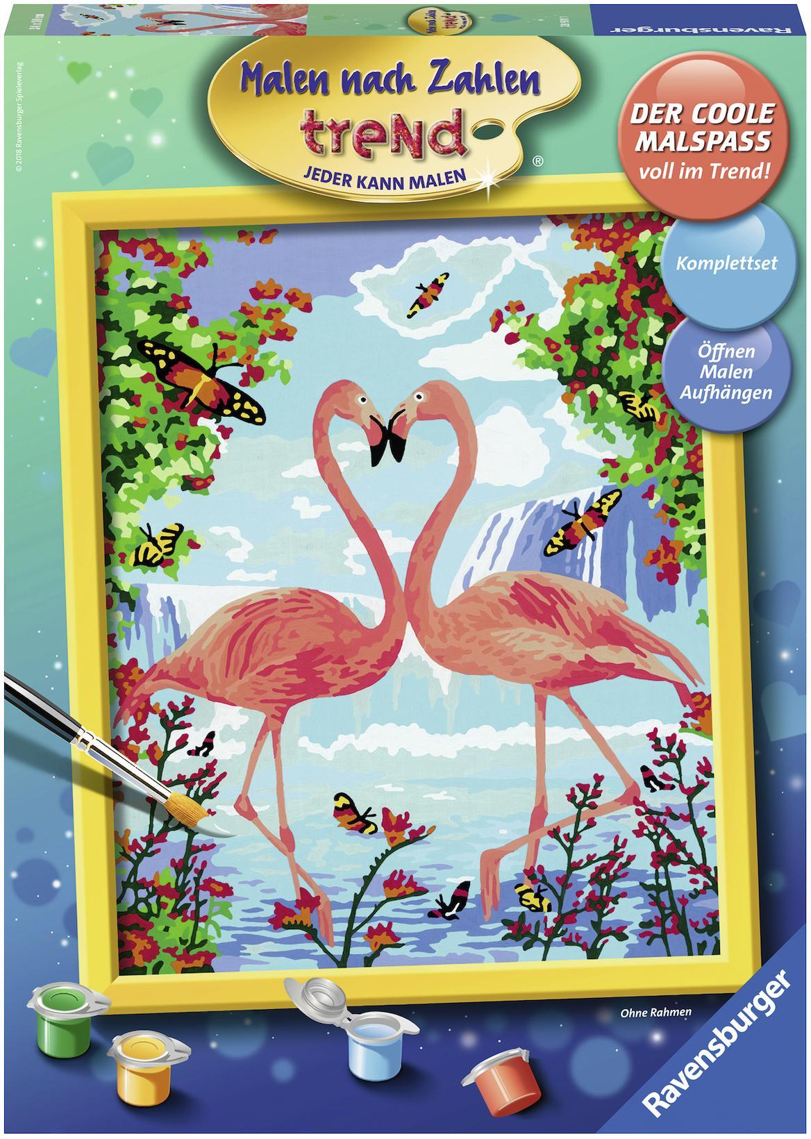 Ravensburger Malen Nach Zahlen Flamingo Love Baur