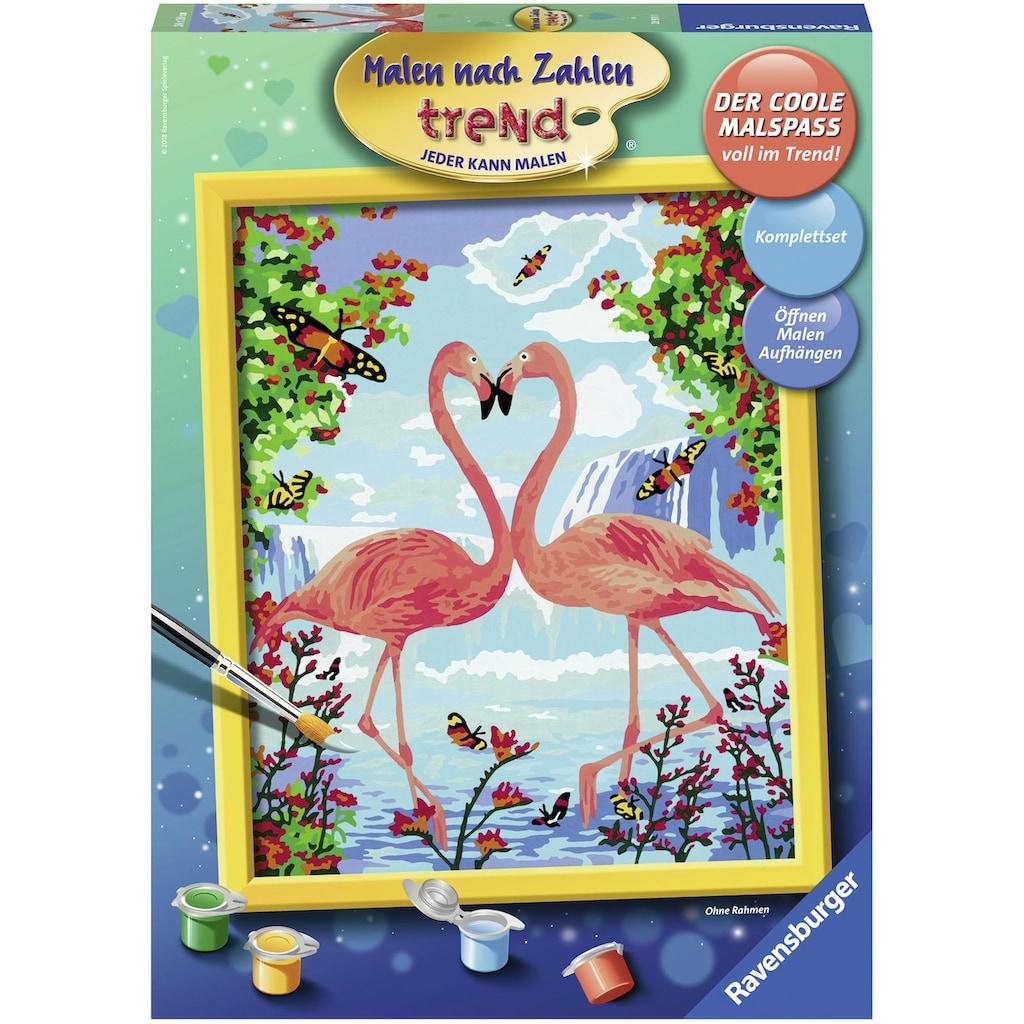 Ravensburger Malen nach Zahlen »Flamingo Love«, Made in Europe, FSC® - schützt Wald - weltweit