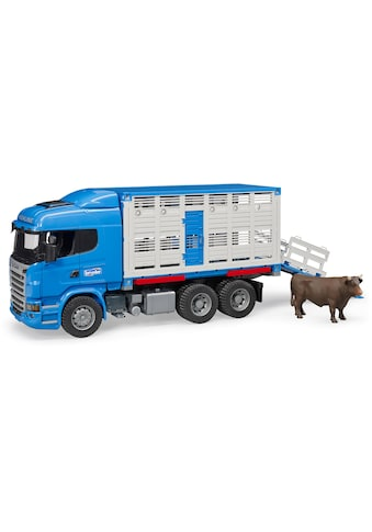 Bruder® Spielzeug-Transporter »Scania R-Serie Tiertransporter mit 1 Rind«, Made in... kaufen