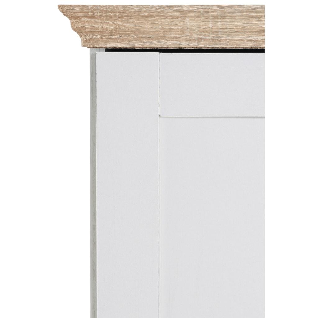Home affaire Mehrzweckschrank »Binz«, erstrahlt in schöner Holz-Optik, mit vielen Stauraummöglichkeiten, Höhe 130 cm
