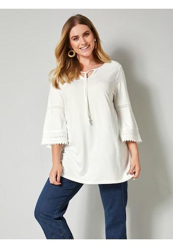 Sara Lindholm by HAPPYsize Shirt mit floraler Spitze kaufen