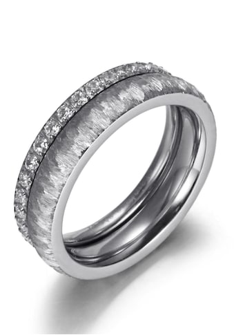 Firetti Ring - Set »2,0 mm, 4,0 mm, glänzend, matt, gekratzt, strukturiert« (Set, 2 tlg.) kaufen