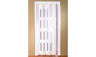 Kunststoff - Falttür »Luciana«, BxH: bis 88,5x202 cm, kürzbar, Fenster mit Riffelstruktur kaufen