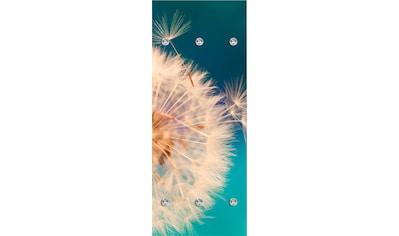 queence Garderobenpaneel »Pusteblume in groß«, mit 6 Haken, 50 x 120 cm kaufen