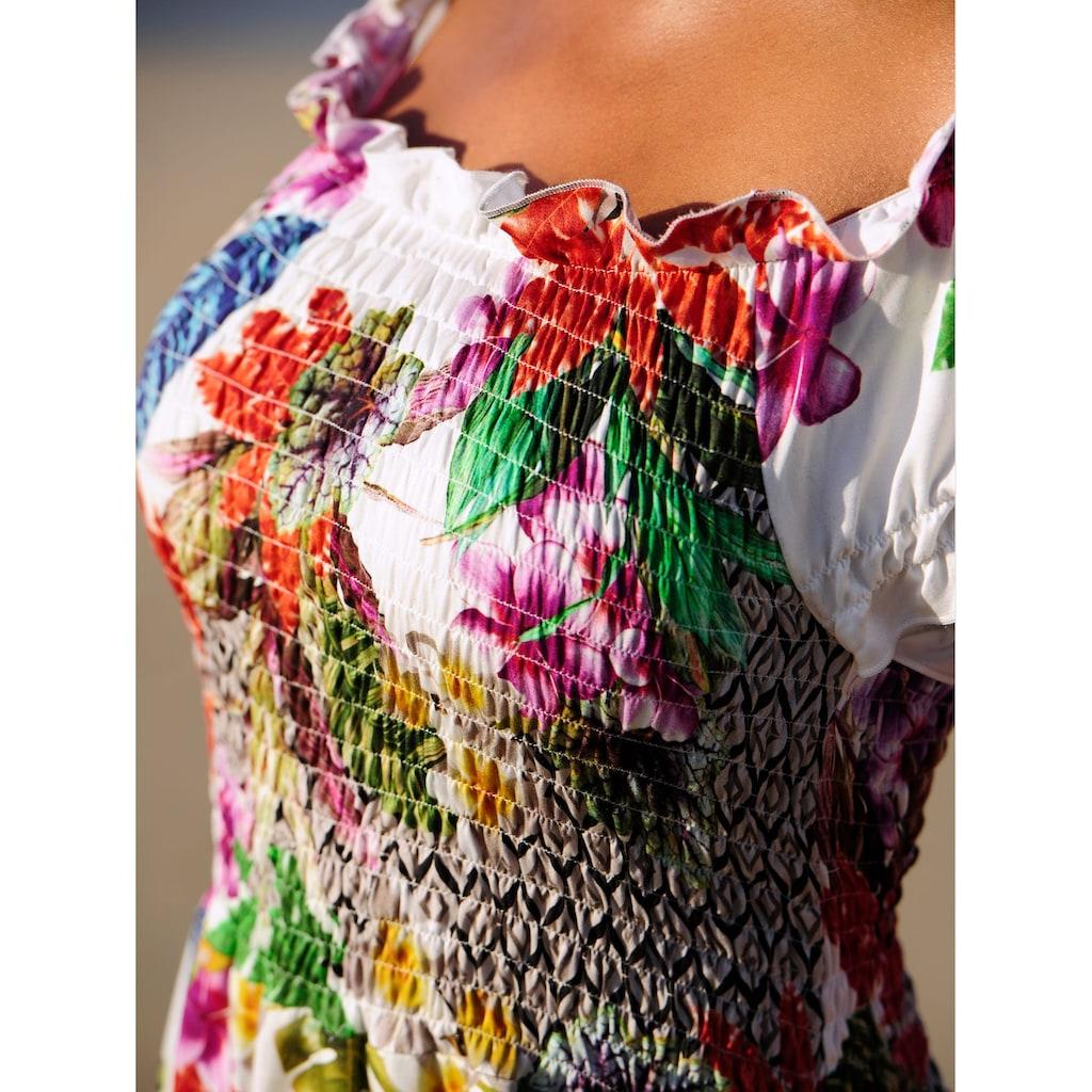 Alba Moda Strandkleid im Carmenstil