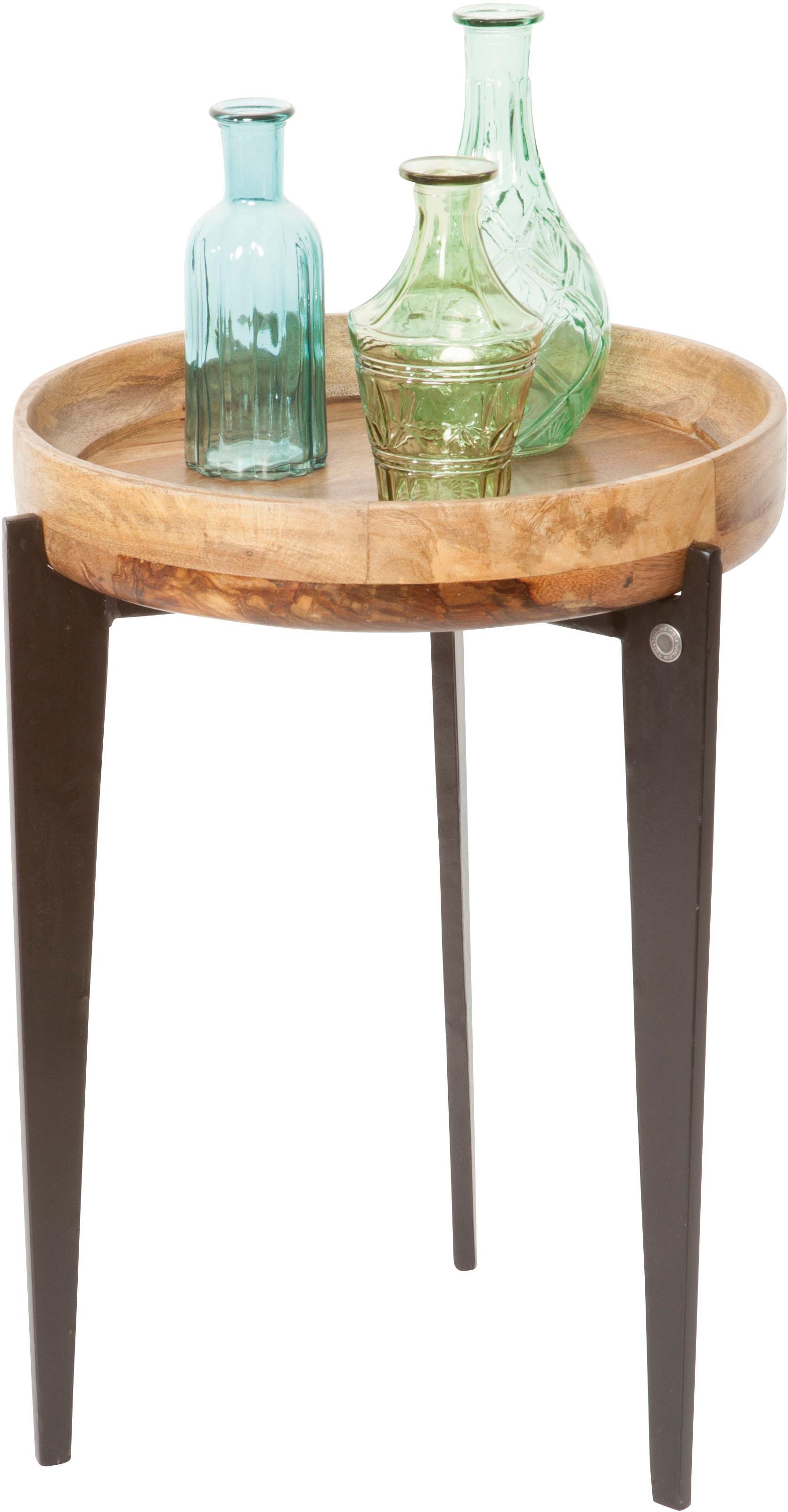 TOM TAILOR Beistelltisch T-TRAY TABLE HIGH, mit Tablett, rund, ø 40 cm orange Beistelltische Tische