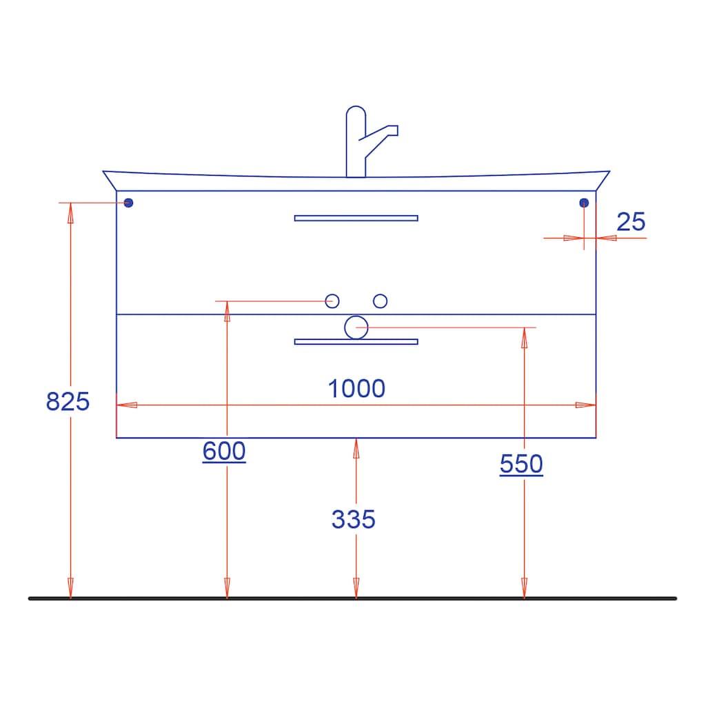 HELD MÖBEL Waschtisch »Florida«, Breite 100 cm