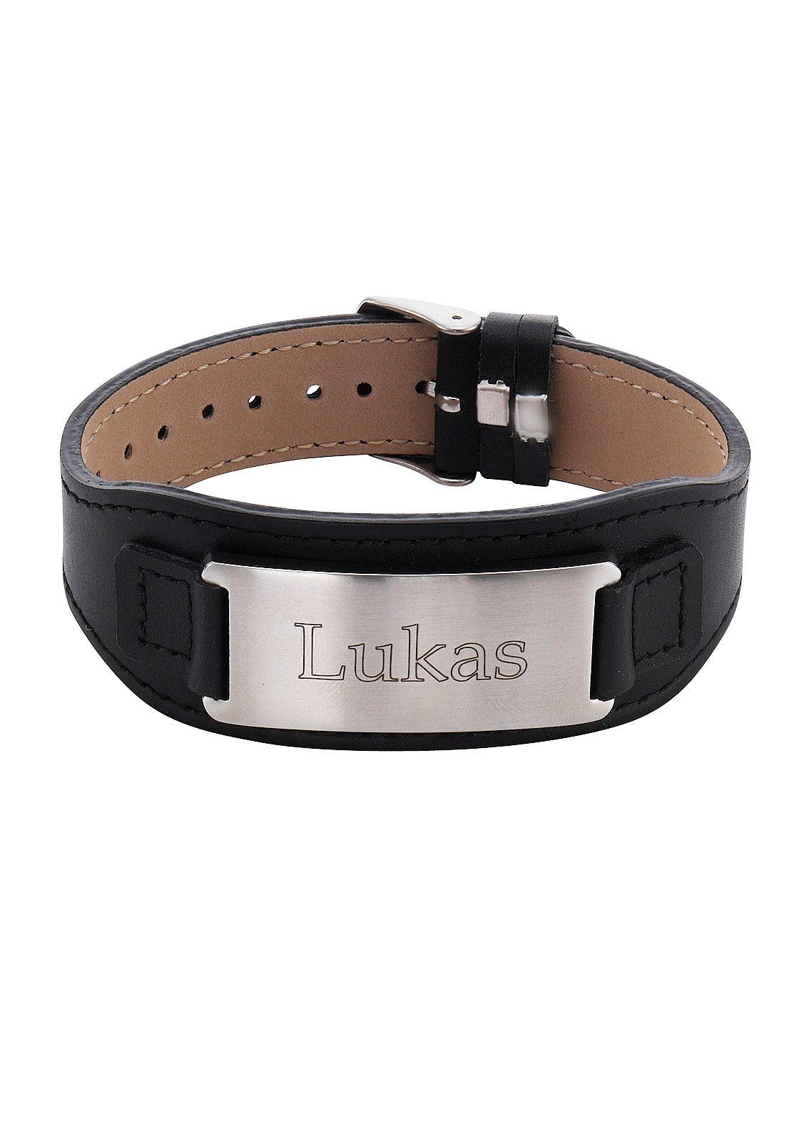 Firetti Armband mit Gravur ID-Armband mit gratis Gravur | Schmuck > Armbänder > Armbänder mit Gravur | Schwarz | Firetti