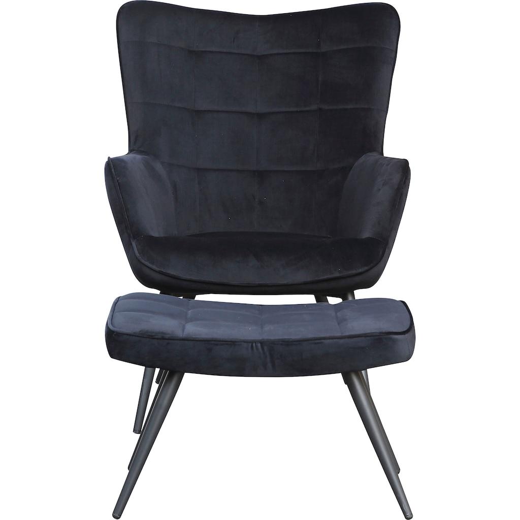 Homexperts Sessel »ULLA«, wahlweise mit oder ohne Hocker