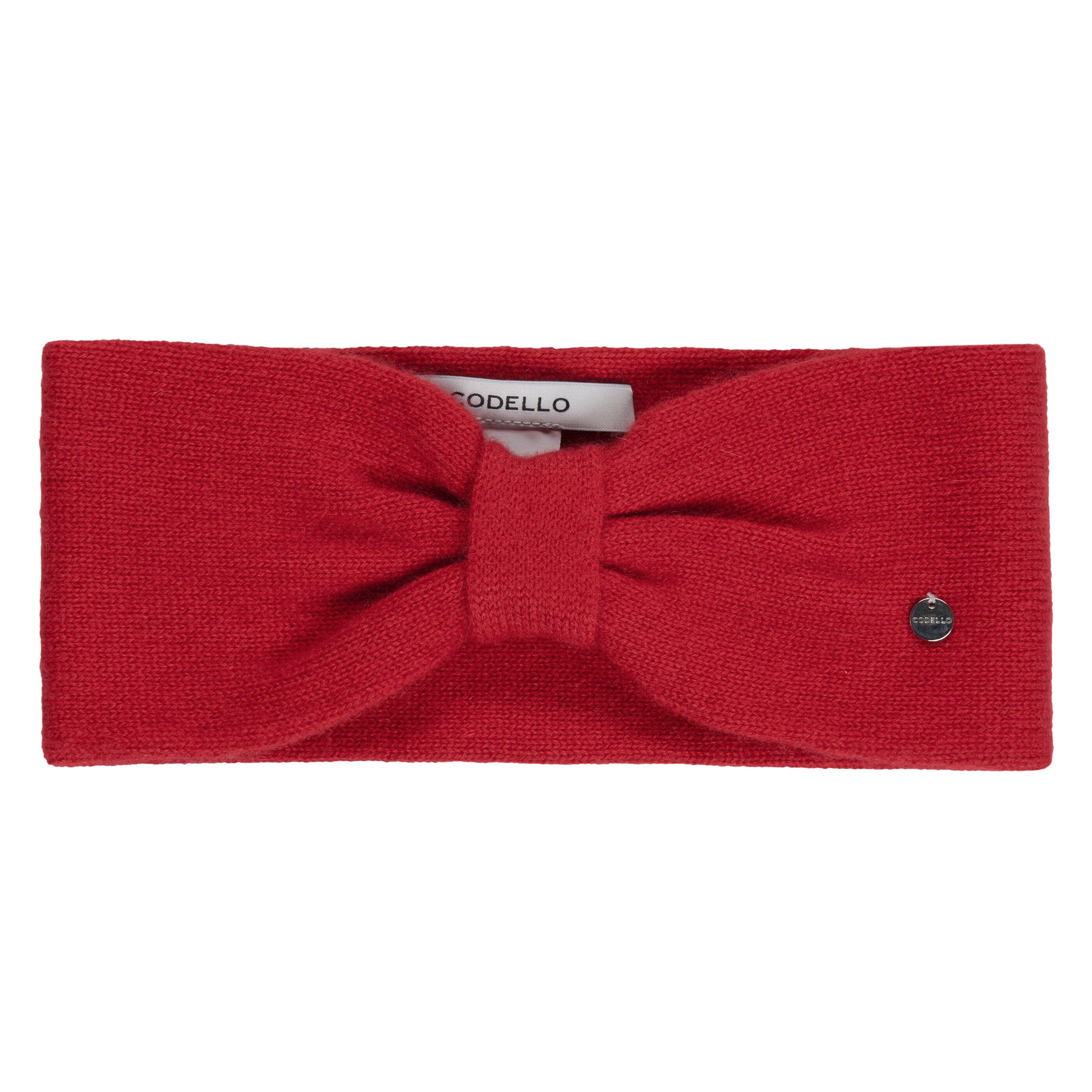 Codello Stirnband, aus reinem Kaschmir rot Damen Stirnband