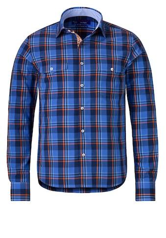 East Club London Karo-Langarmhemd mit Ellenbogen-Patches kaufen