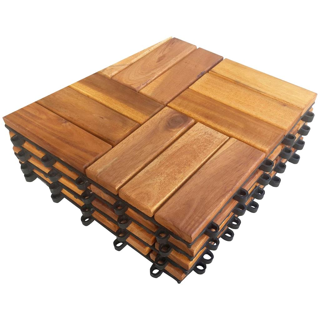 MERXX Terrassenplatten »Akazie«, Klickfliesen Akazie