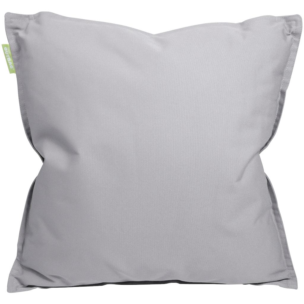 OUTBAG Dekokissen »50/50 Plus cool-grey«, mit Füllung, Breite 50 cm