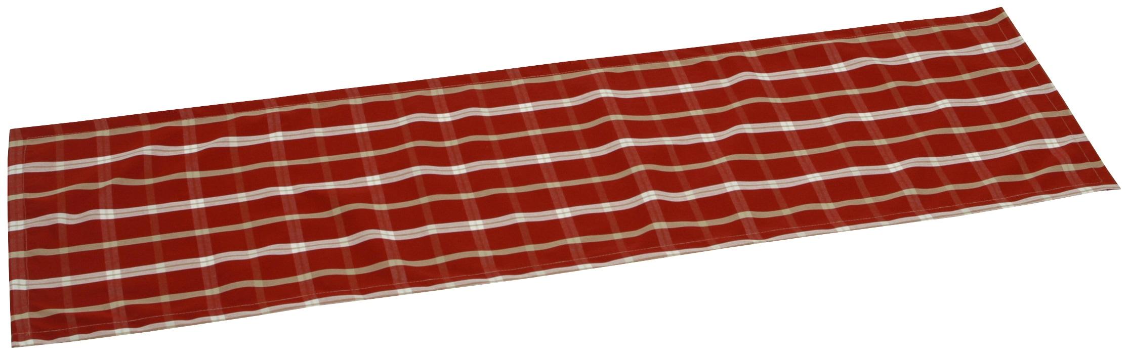 GO-DE Tischläufer, (2 St.) rot Tischläufer Tischwäsche