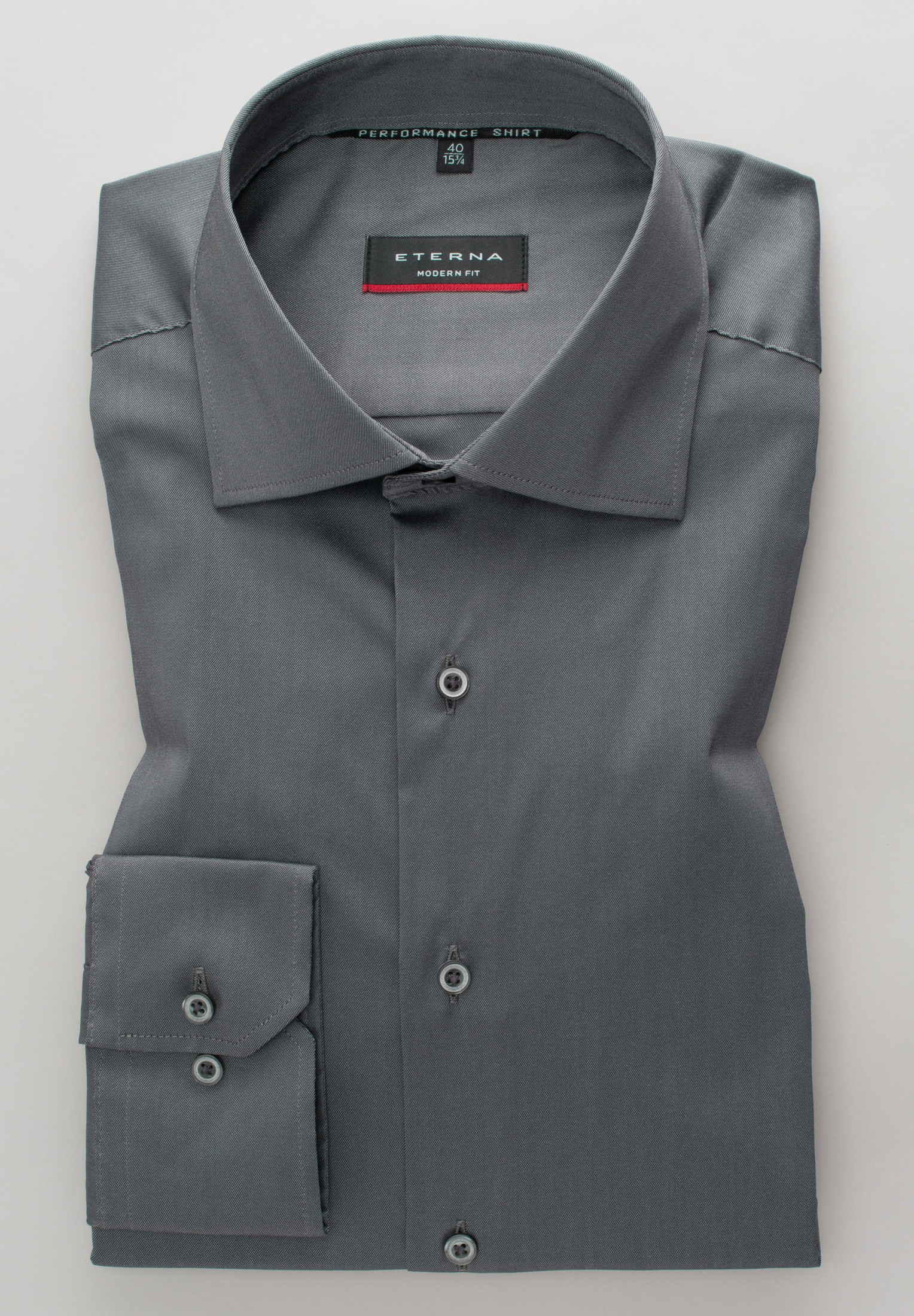 Eterna Businesshemd MODERN FIT, Langarm grau Herren Business Hemden Businessmode