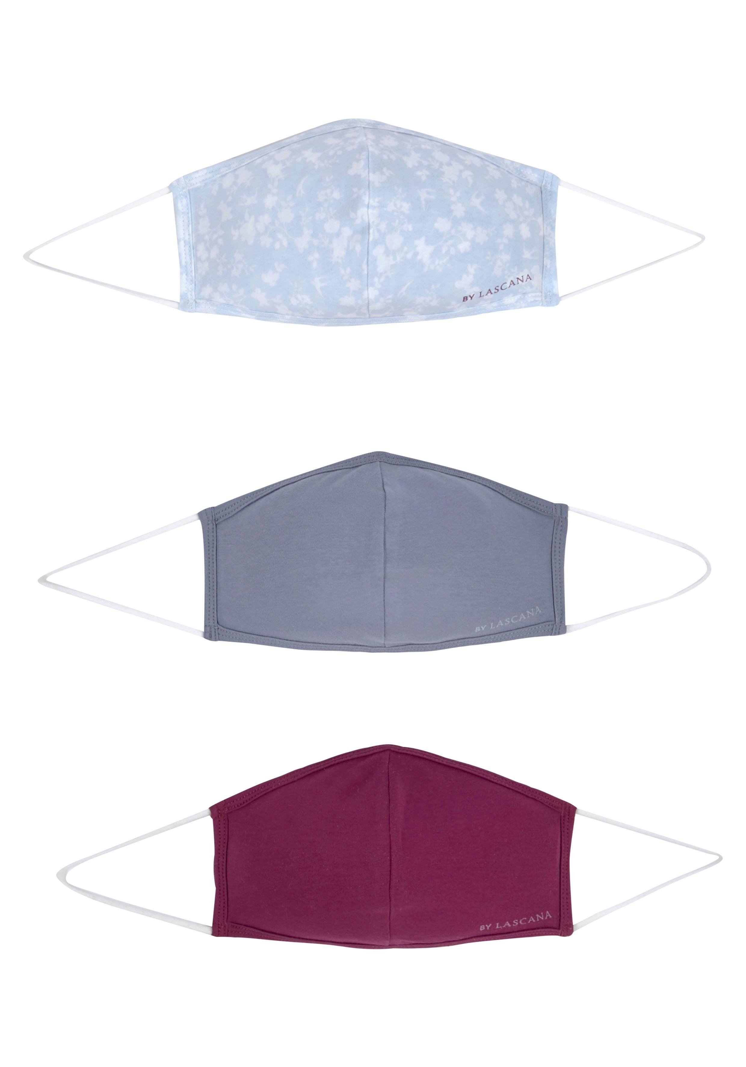 LASCANA Community-Masken (Packung, 3-teilig)