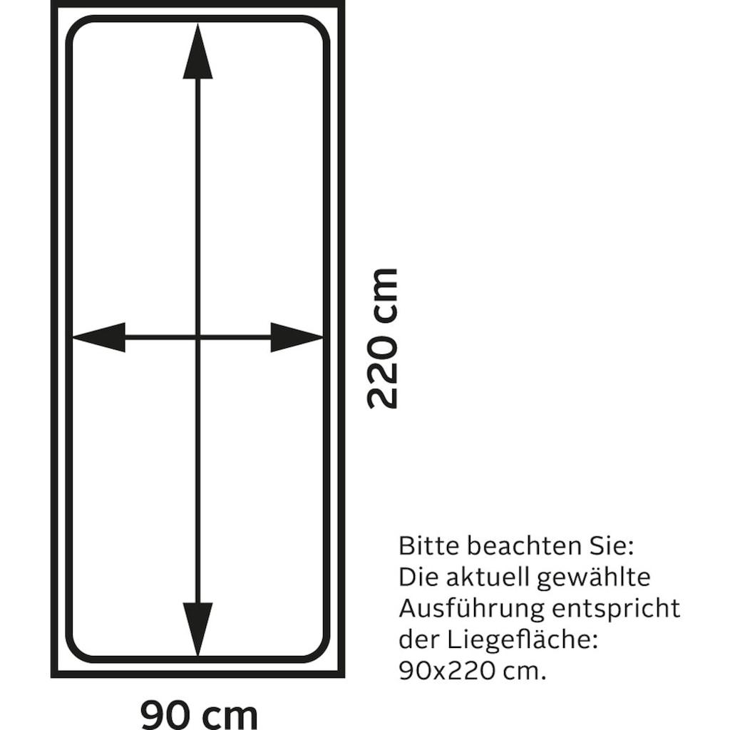 TOM TAILOR Boxspringbett »COLOR BOX«, Struktur, ohne Print, Überlänge 220 cm