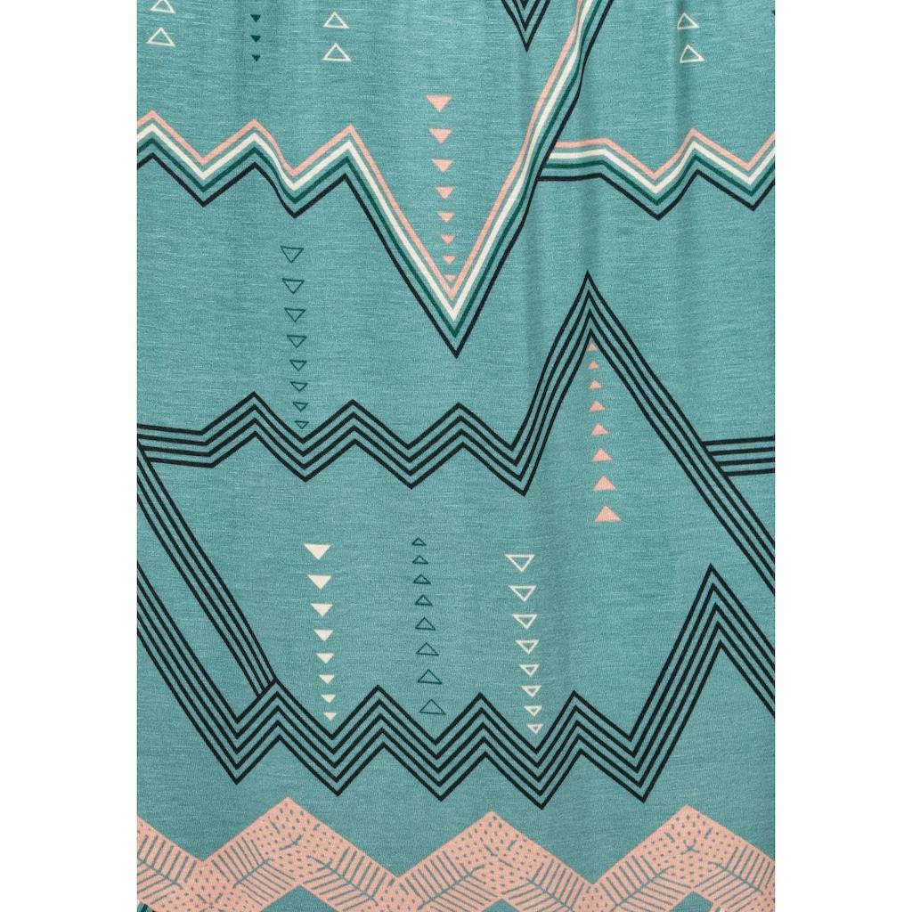 LASCANA Sleepshirt, mit grafischem Zick-Zack Muster