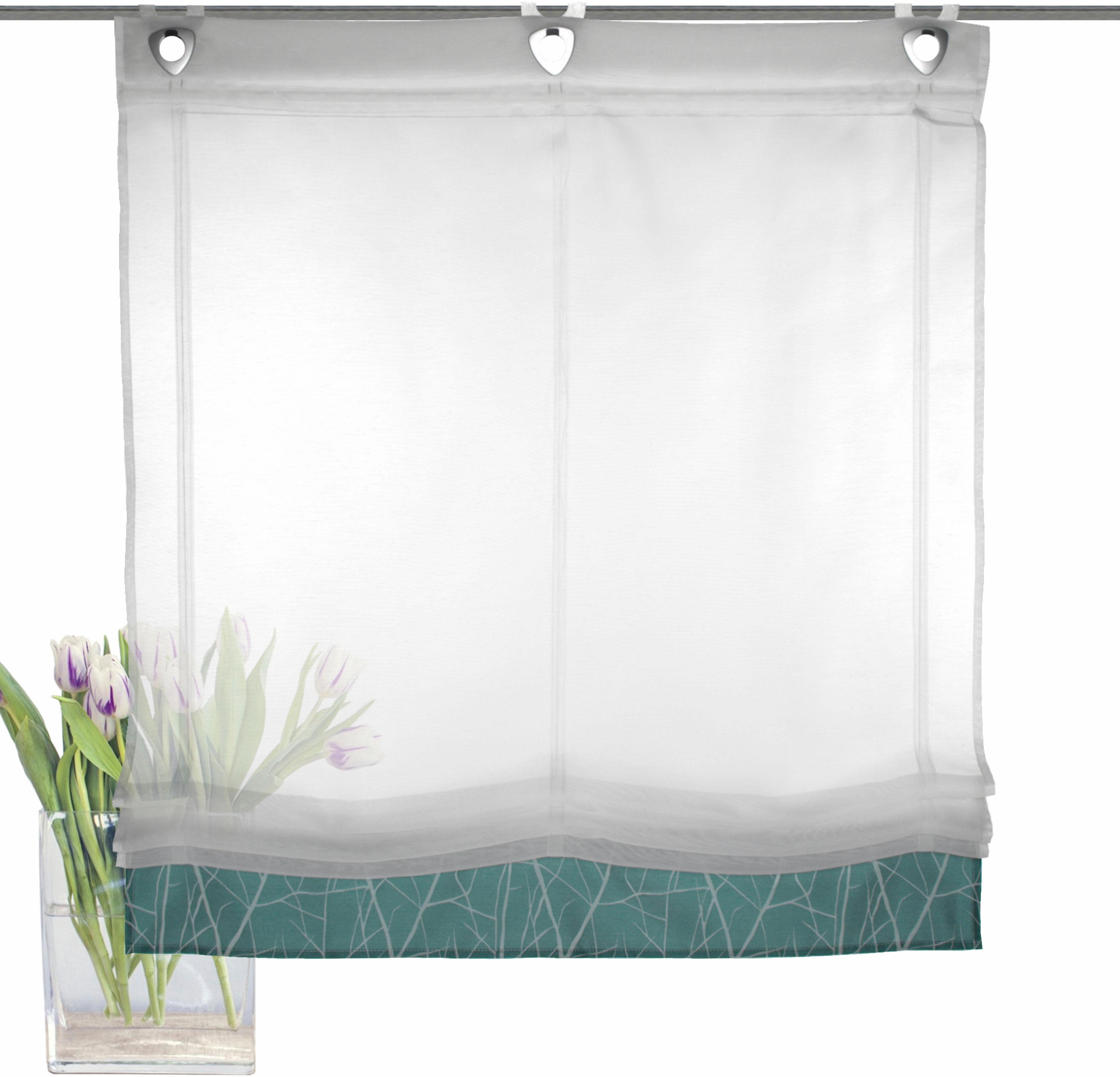 raffrollo campos mit hakenaufh ngung ohne bohren haken. Black Bedroom Furniture Sets. Home Design Ideas