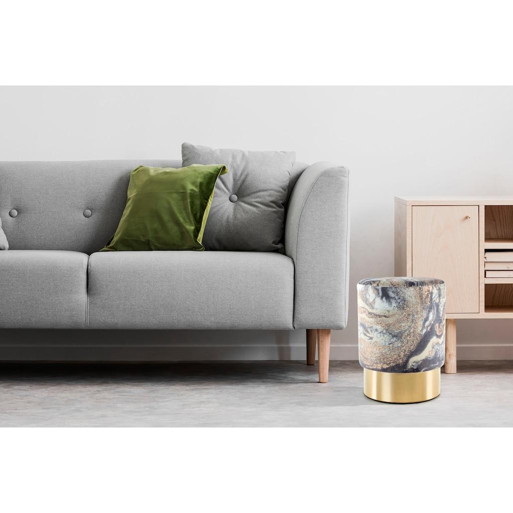 Kayoom Sitzhocker »Gipsy 325«, Runder Sitzpouf mit Metallelement