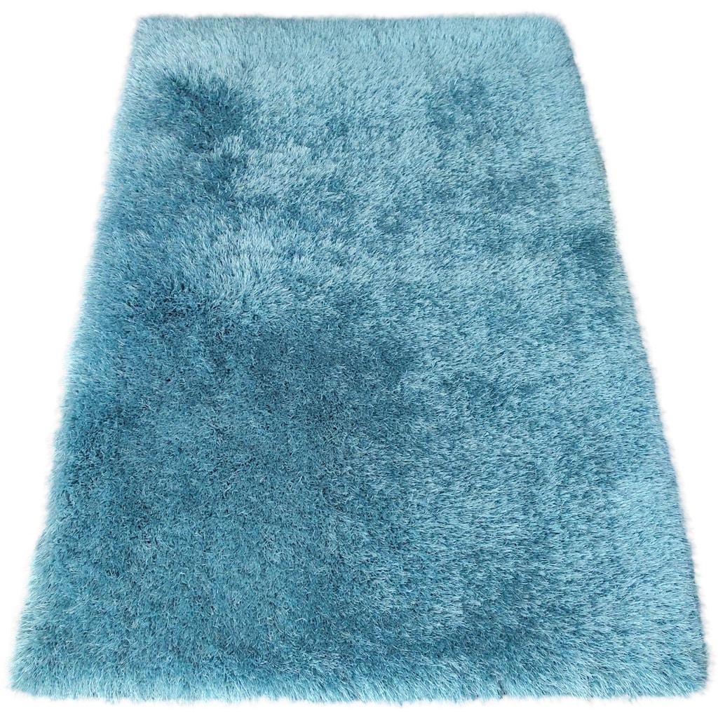 Bruno Banani Hochflor-Teppich »Airis«, rechteckig, 65 mm Höhe, Besonders weich durch Microfaser, Wohnzimmer