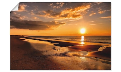 Artland Wandbild »Sonnenuntergang am Mittelmeer«, Strand, (1 St.), in vielen Größen &... kaufen