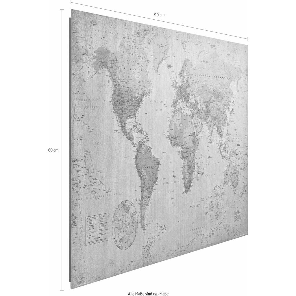 Reinders! Deco-Panel »Weltkarte antik«, 90/60 cm