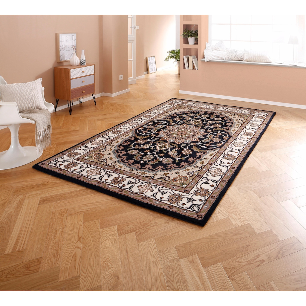 Theko Exklusiv Teppich »Nain«, rechteckig, 12 mm Höhe, Orient-Optik, Wohnzimmer