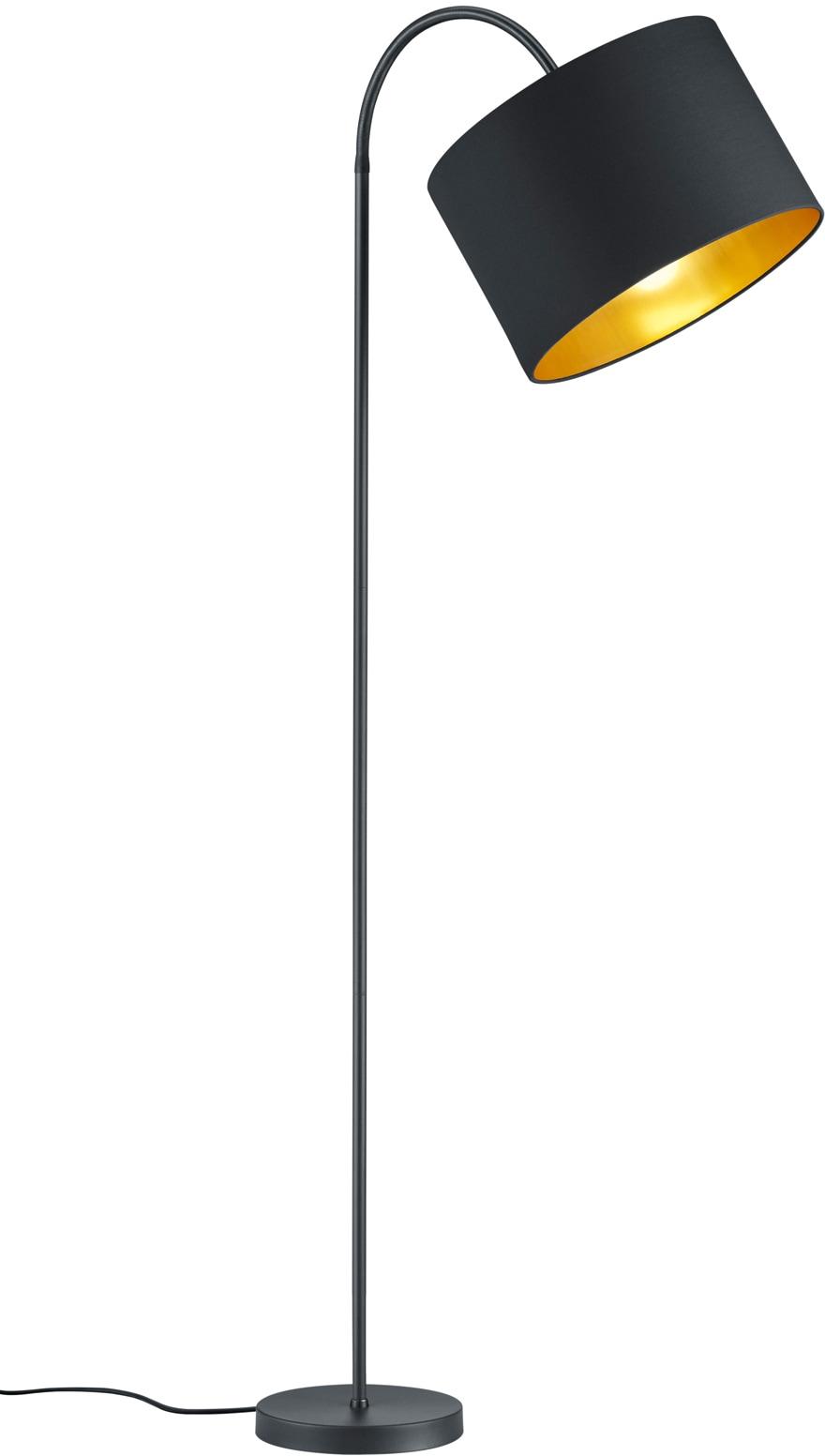 my home Stehlampe JOSIE, E27, Stehleuchte mit flexiblem, schwenkbaren Schirm