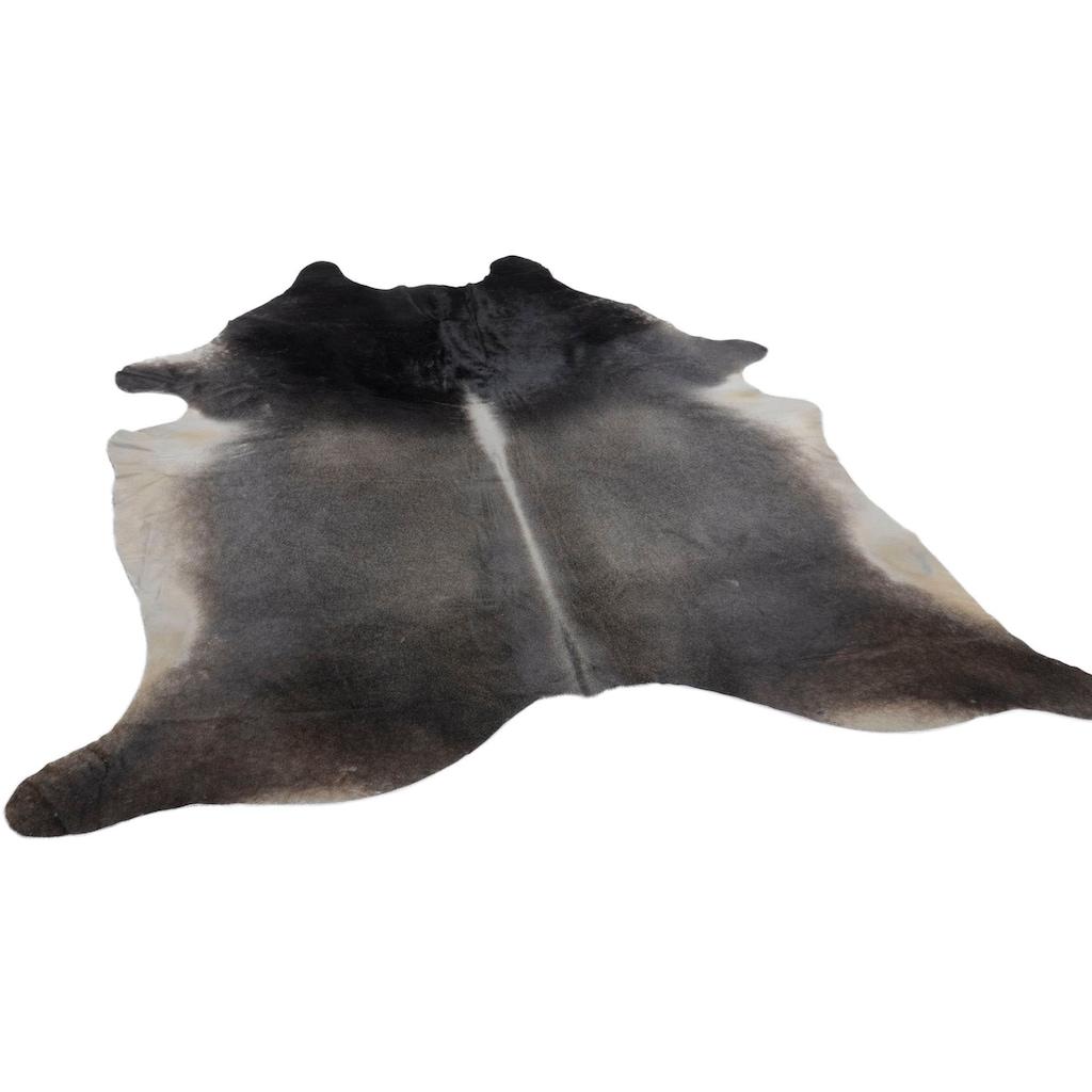 THEKO Fellteppich »Muh 682G«, fellförmig, 3 mm Höhe, echtes Rinderfell, Naturprodukt - daher ist jedes Rinderfell ein Einzelstück, Wohnzimmer