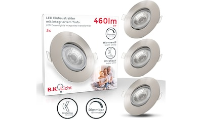 B.K.Licht LED Einbauleuchte, LED-Board, 3 St., Warmweiß, LED Einbauspots dimmbar... kaufen