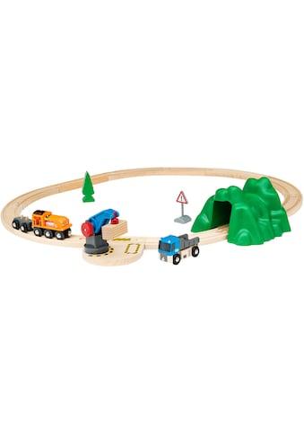 BRIO® Spielzeug-Eisenbahn »BRIO® WORLD Starterset Güterzug mit Kran«, Made in Europe,... kaufen
