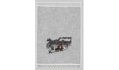 Scheibengardine, »Wintermärchen«, HOSSNER  -  ART OF HOME DECO, Stangendurchzug 1 Stück kaufen