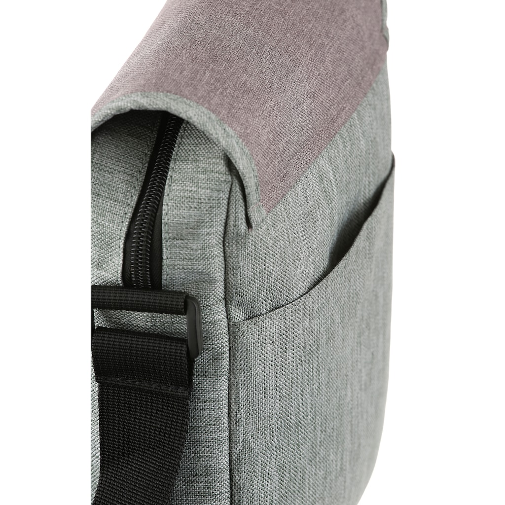 KangaROOS Umhängetasche, mit praktischem Steckfach an der Rückseite