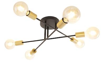 Leonique Deckenleuchte »Jarla«, E27, 1 St., Deckenlampe / Wandlampe mit goldfarbenen... kaufen