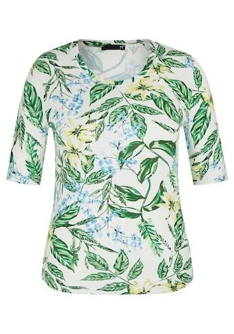 Thomas Rabe T-Shirt mit Allover-Print und halblangen Ärmeln kaufen