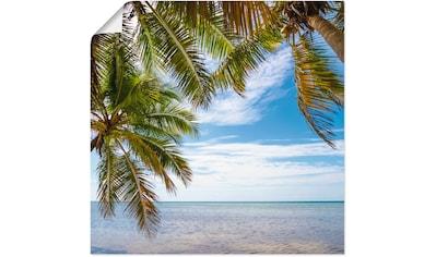 Artland Wandbild »Florida Keys Das Meer«, Bäume, (1 St.), in vielen Größen &... kaufen