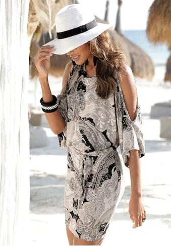 LASCANA Strandkleid, (mit Bindeband), mit Paisleydruck kaufen