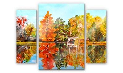 Wall-Art Mehrteilige Bilder »Bunter Sommer (3-teilig)«, (Set, 3 St.) kaufen
