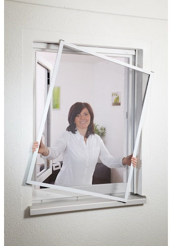 hecht international Insektenschutz-Fenster »MASTER SLIM«, weiß/anthrazit, BxH: 130x150 cm kaufen
